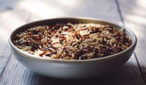 bowl full of whole grain rice