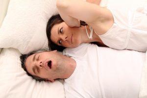 snoring couple